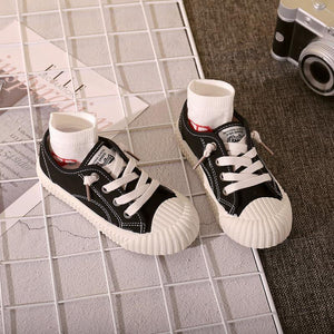 Children's high-top casual shoe