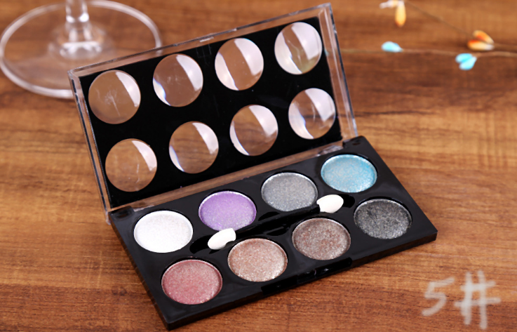 Pearl crystal diamond 8 color makeup tray