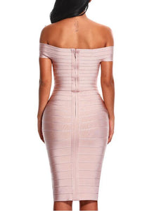 Sexy Off Shoulder Women's Bandage Dress