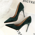 Load image into Gallery viewer, Suede stiletto high heels - monaveli - shoes - Suede stiletto high heels - mymonaveli.com