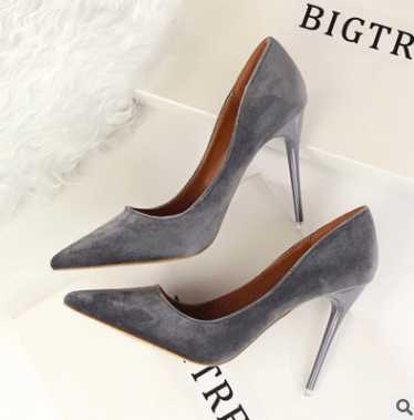 Suede stiletto high heels - monaveli - shoes - Suede stiletto high heels - mymonaveli.com