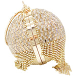 Load image into Gallery viewer, Round diamond tassel bag - monaveli - bag - Round diamond tassel bag - mymonaveli.com