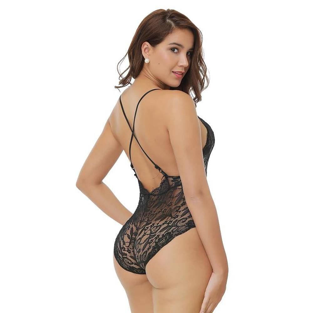 Lace Cross Back Nightwear Lingerie - monaveli -  - Lace Cross Back Nightwear Lingerie - mymonaveli.com