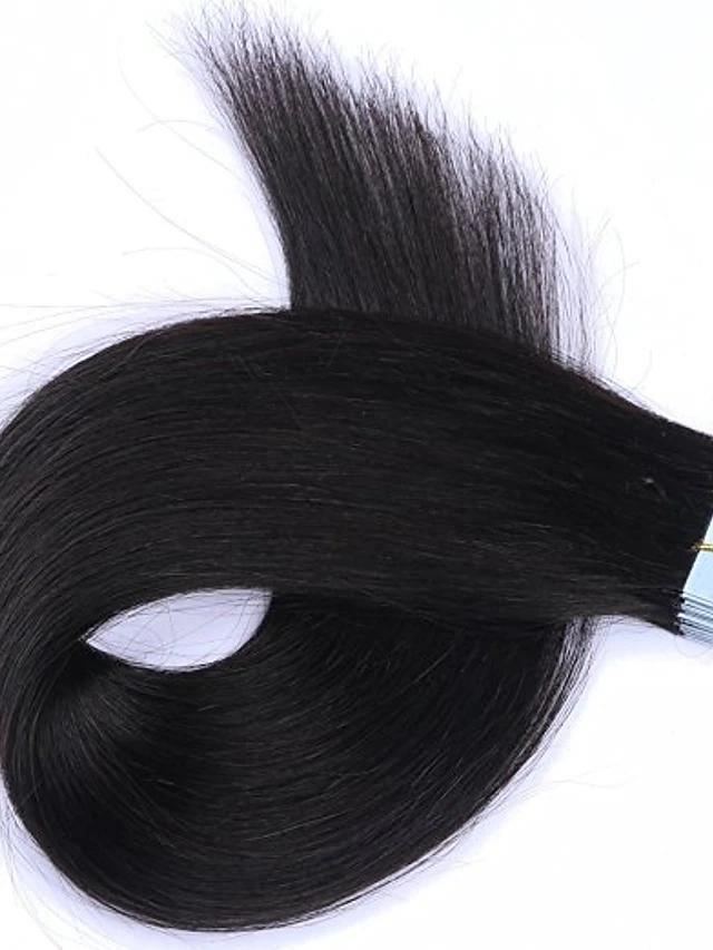 Tape In Straight Human Hair Extension - monaveli -  - Tape In Straight Human Hair Extension - mymonaveli.com
