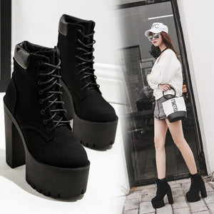 Thick Sky Ankle Boot - monaveli - shoes - Thick Sky Ankle Boot - mymonaveli.com