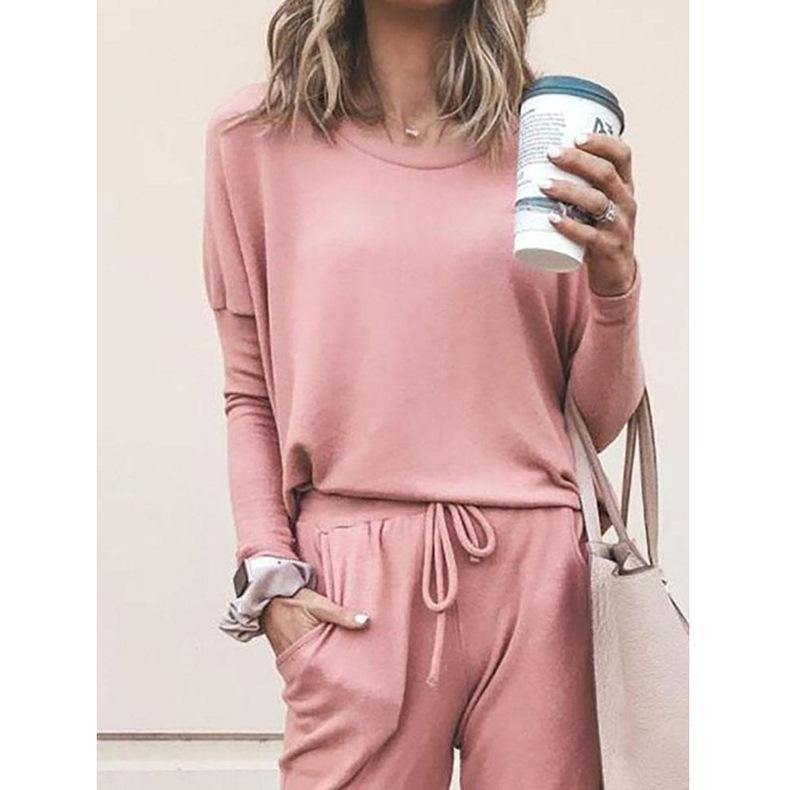 Loose Long Sleeve Casual Loungewear Set - monaveli - Women's Clothing - Loose Long Sleeve Casual Loungewear Set - mymonaveli.com