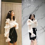 Load image into Gallery viewer, Ruffled top & slim skirt set