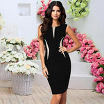 Load image into Gallery viewer, Slim Bodycon Sleeveless Party Pencil Dress
