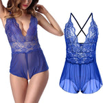 Load image into Gallery viewer, Women's Sexy V-Neck Lace Open Crotch Nightwear