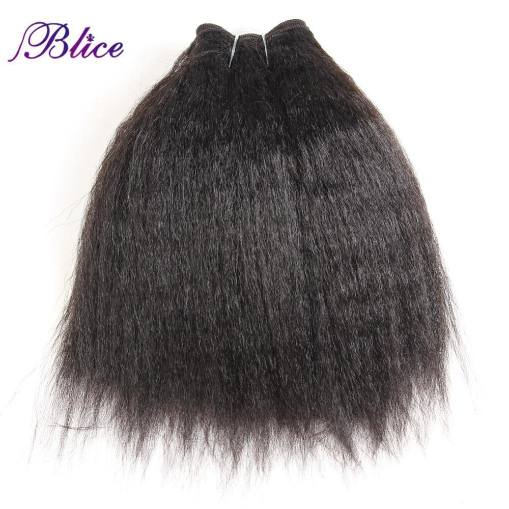 Synthetic Kinky Straight Hair Weaving 10-24inch