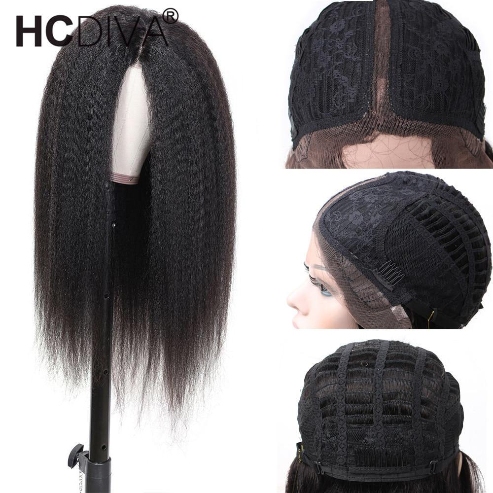 Kinky Straight Lace Part Wig - monaveli -  - Kinky Straight Lace Part Wig - mymonaveli.com