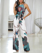 Load image into Gallery viewer, Printed Sling Jumpsuit - monaveli - Women's Clothing - Printed Sling Jumpsuit - mymonaveli.com