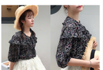 Load image into Gallery viewer, Floral lotus leaf chiffon shirt - monaveli - Women's Clothing - Floral lotus leaf chiffon shirt - mymonaveli.com