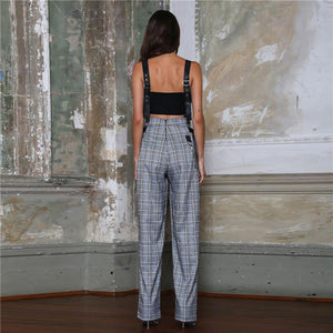 Chiky Plaid Overall Jumpsuit - monaveli - Women's Clothing - Chiky Plaid Overall Jumpsuit - mymonaveli.com