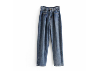 High waist wide leg straight jeans pant
