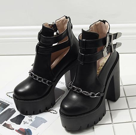 Gothic Chain Ankle Boot - monaveli - shoes - Gothic Chain Ankle Boot - mymonaveli.com
