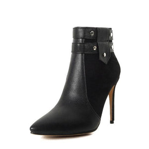 Buckle Strap High Heel Ankle Boot - monaveli - shoes - Buckle Strap High Heel Ankle Boot - mymonaveli.com