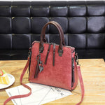 Load image into Gallery viewer, Vintage Leather Handbag - monaveli - bag - Vintage Leather Handbag - mymonaveli.com