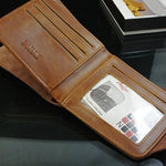 Load image into Gallery viewer, Men's Faux Leather Bi-fold Wallet - monaveli - Wallets - Men's Faux Leather Bi-fold Wallet - mymonaveli.com