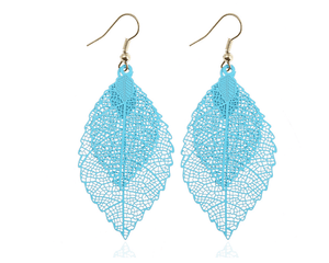Double-layered leaves tassel earrings - monaveli - jewelry - Double-layered leaves tassel earrings - mymonaveli.com