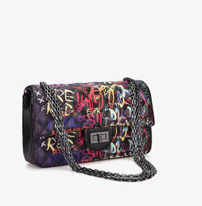 Graffiti rhombus chain bag - monaveli - bag - Graffiti rhombus chain bag - mymonaveli.com