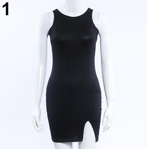 Women Fashion Summer Bodycon Sleeveless Evening Sexy Party Cocktail Mini Dress - monaveli - Cocktail & Evening Dresses - Women Fashion Summer Bodycon Sleeveless Evening Sexy Party Cocktail Mini Dress - mymonaveli.com
