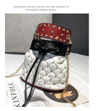 Load image into Gallery viewer, Rivet chain bucket bag - monaveli - bag - Rivet chain bucket bag - mymonaveli.com