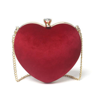 Heart-shaped chain bag - monaveli - bag - Heart-shaped chain bag - mymonaveli.com