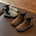 Load image into Gallery viewer, Leopard print velvet ankle boot