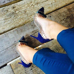 Load image into Gallery viewer, Sexy Blue Pink Suede Heels - monaveli -  - eprolo Sexy Blue Pink Suede Heels - mymonaveli.com