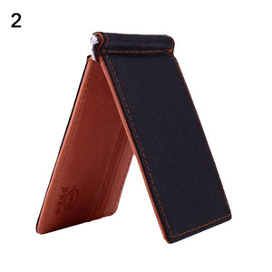 Men's Slim Faux Leather Wallet - monaveli - Wallets - Men's Slim Faux Leather Wallet - mymonaveli.com