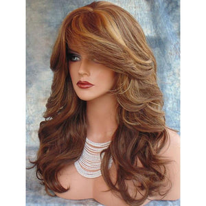 Synthetic Body Wave Layered Wig
