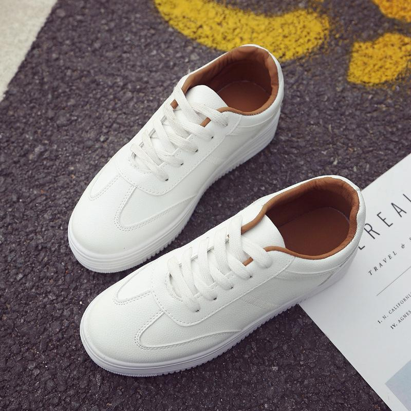 Spring thick white casual sneakers - monaveli - shoes - Spring thick white casual sneakers - mymonaveli.com