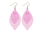 Load image into Gallery viewer, Double-layered leaves tassel earrings - monaveli - jewelry - Double-layered leaves tassel earrings - mymonaveli.com