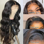 Load image into Gallery viewer, Black Pearl Body Wave Lace Front Wig
