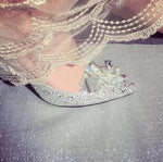 Load image into Gallery viewer, Crystal Cinderella Shoe - monaveli - shoes - Crystal Cinderella Shoe - mymonaveli.com
