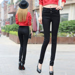 Load image into Gallery viewer, Elastic high waist slim jeans trouser