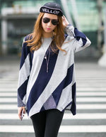 Load image into Gallery viewer, Stripe pattern long loose jacket - monaveli - Women's Clothing - Stripe pattern long loose jacket - mymonaveli.com