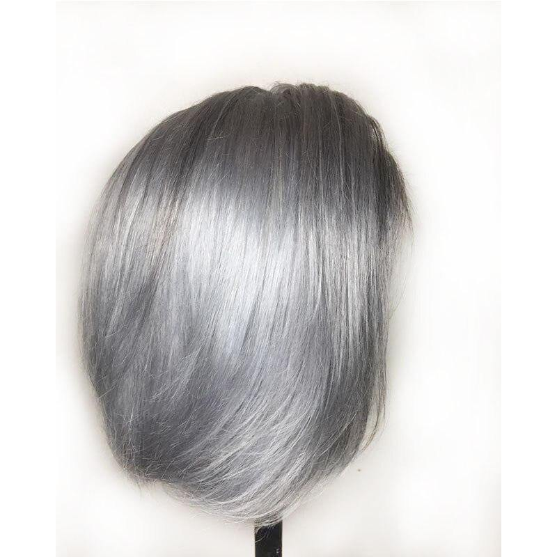 Grey Colored Human Hair Wig - monaveli -  - Grey Colored Human Hair Wig - mymonaveli.com