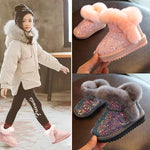Load image into Gallery viewer, Kid's warm velvet boot - monaveli - kids - Kid's warm velvet boot - mymonaveli.com