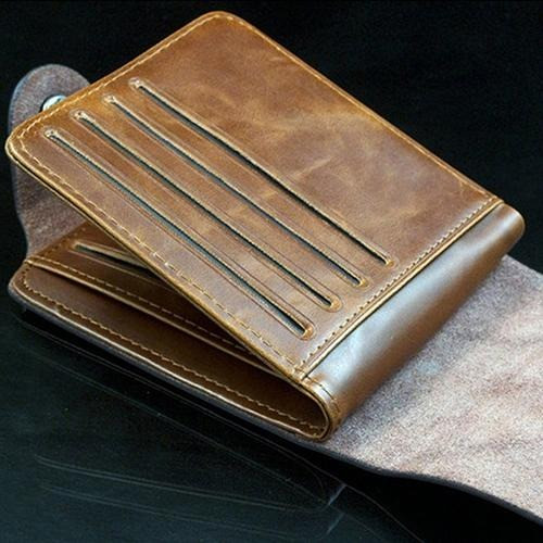 Men's Faux Leather Bi-fold Wallet - monaveli - Wallets - Men's Faux Leather Bi-fold Wallet - mymonaveli.com