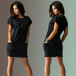 Casual Sexy Round Neck Short Sleeve Mini Dress