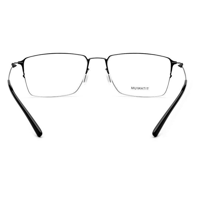 Screwless half frame square eyewear