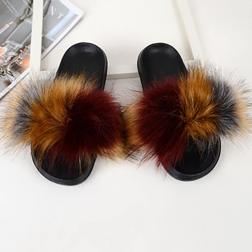 Winter Warm Fur Slippers - monaveli -  - Winter Warm Fur Slippers - mymonaveli.com