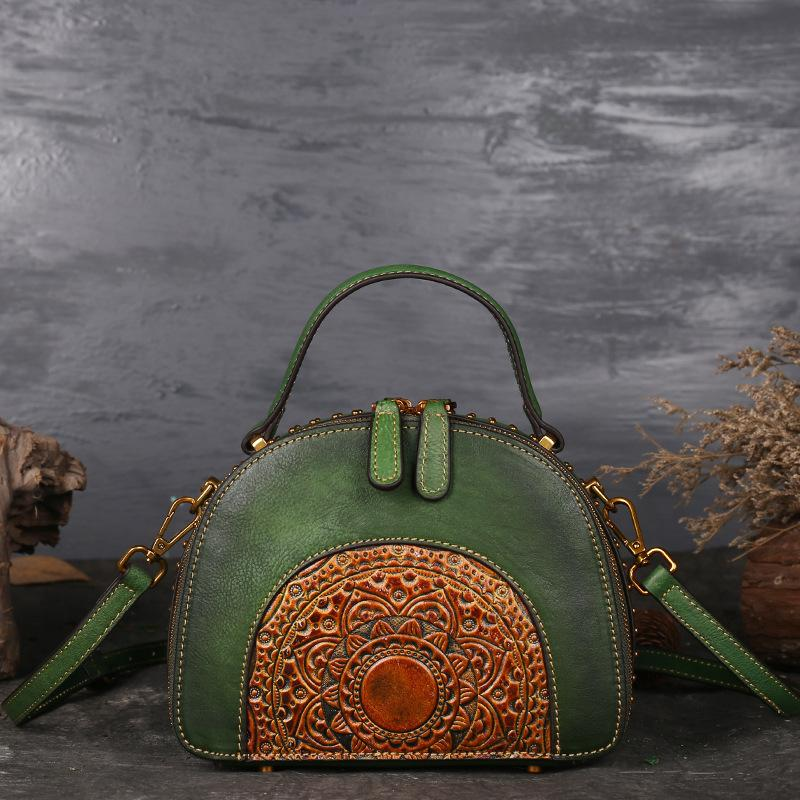 Vintage leather handbag - monaveli - bag - Vintage leather handbag - mymonaveli.com