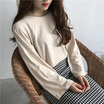 Load image into Gallery viewer, Loose casual long-sleeve chic top - monaveli - Women's Clothing - Loose casual long-sleeve chic top - mymonaveli.com