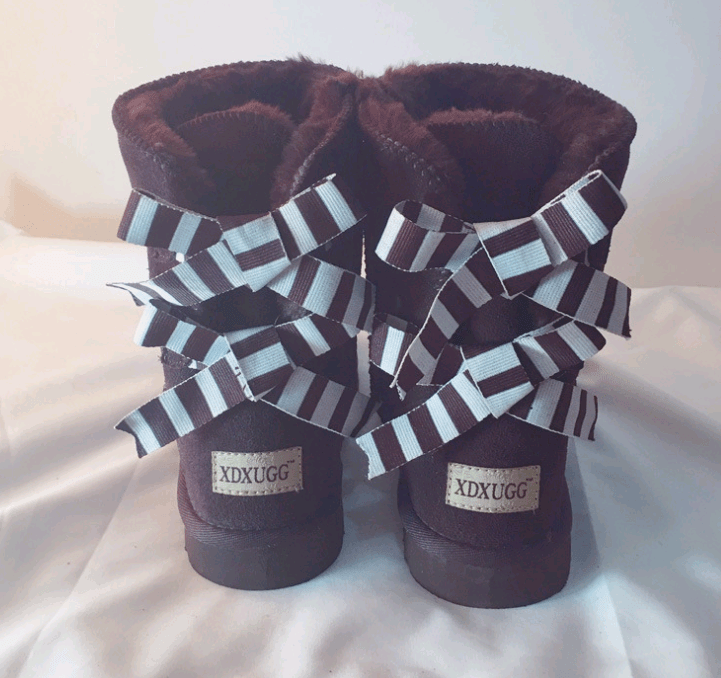 Non-slip bow snow boot - monaveli - shoes - Non-slip bow snow boot - mymonaveli.com