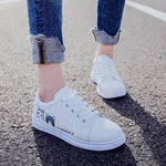 Load image into Gallery viewer, Lace Up Cartoon Cat Sneakers - monaveli -  - eprolo Lace Up Cartoon Cat Sneakers - mymonaveli.com