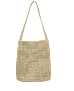Leisure knitted shoulder straw bag - monaveli - bag - Leisure knitted shoulder straw bag - mymonaveli.com