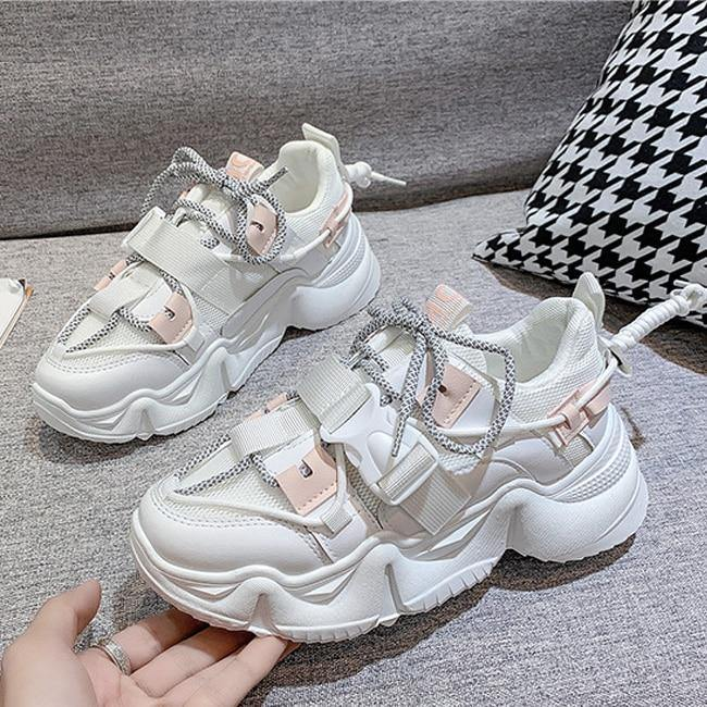 Women's Fashion Thick Bottom Sneakers - monaveli -  - eprolo Women's Fashion Thick Bottom Sneakers - mymonaveli.com